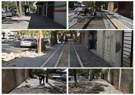 بهسازی و پیاده رو سازی ضلع شمالی خیابان ۷۲ تن شهید