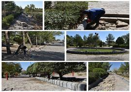 شروع مرمت و بهسازی پارک وحدت شهر خواف