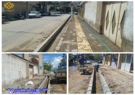 جدول گذاری و پیاده رو سازی ابتدای خیابان پیر احمد(حد فاصل خیابان شهاب تا پیراحمد 2)
