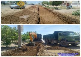 عملیات حفاری بلوار فردوسی ( حدفاصل خیابان عطار تا ارشاد )