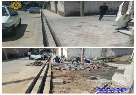عملیات اصلاح جوی عرضی و پیاده رو سازی ابتدای خیابان پیراحمد 2