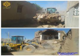عملیات تعریض قسمت توافق شده خیابان شهاب 8