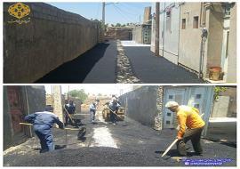 عملیات زیر سازی و آسفالت خیابان خواجه یار 6