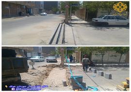 عملیات اصلاح جوی عرضی ابتدای خیابان فروزان
