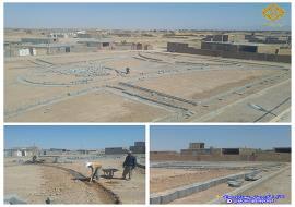 عملیات جدول گذاری پارک در حال احداث محله لاج