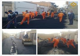 اجرای عملیات زیرسازی و آسفالت خیابان شهاب 12
