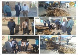 شروع عملیات حفاری قسمت تعریض شده خیابان مدرس