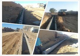 اجرای عملیات کانال و جدول گذاری خیابان ارتباطی سعدآباد به سینا 9