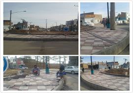 عملیات موزائیک فرش و پیاده روسازی میدان آسباد