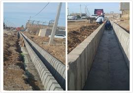 اجرای عملیات کانال دفع آبهای سطحی خیابان نظام الملک