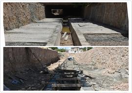 بهسازی کف و دیوارکشی قسمتی از کال خیابان 72 تن شهید