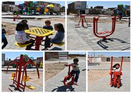 نصب ست های ورزشی در پارک محله لاج