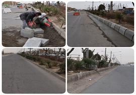 تعویض جداول فرسوده آیلند میانی خیابان غیاثیه